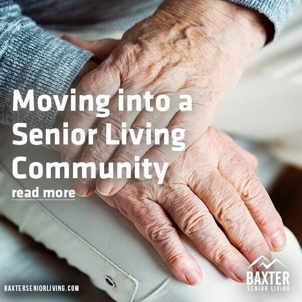 Moving into a senior living community