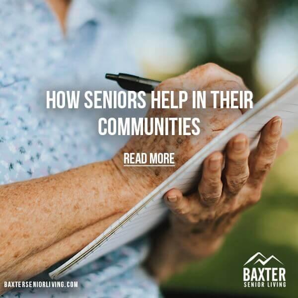 Seniors Help in Their Communities