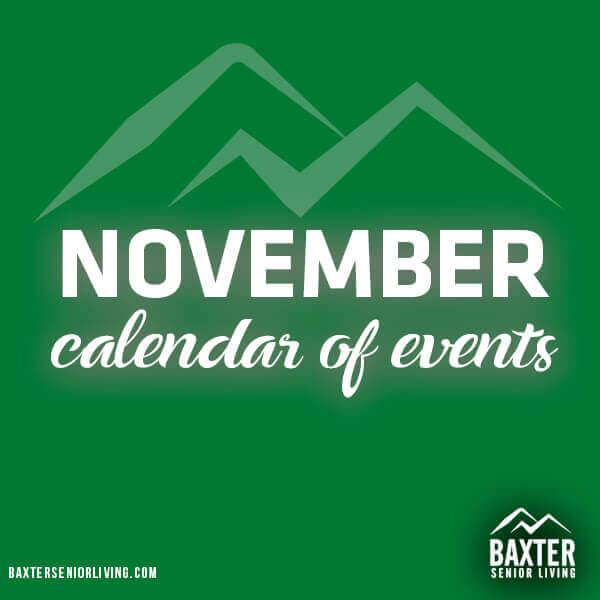 November 2019 Calendar of Events