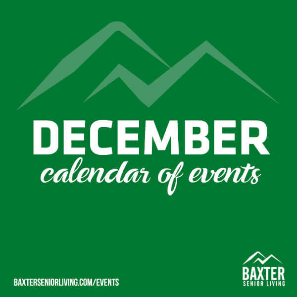 December 2019 Calendar of Events