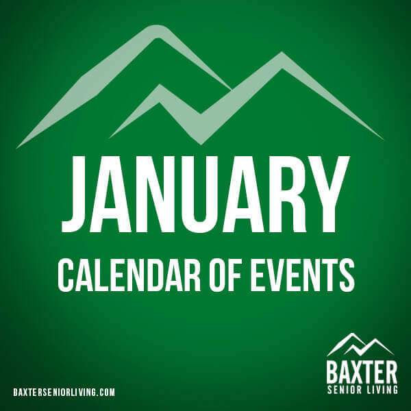 January 2020 Calendar of Events