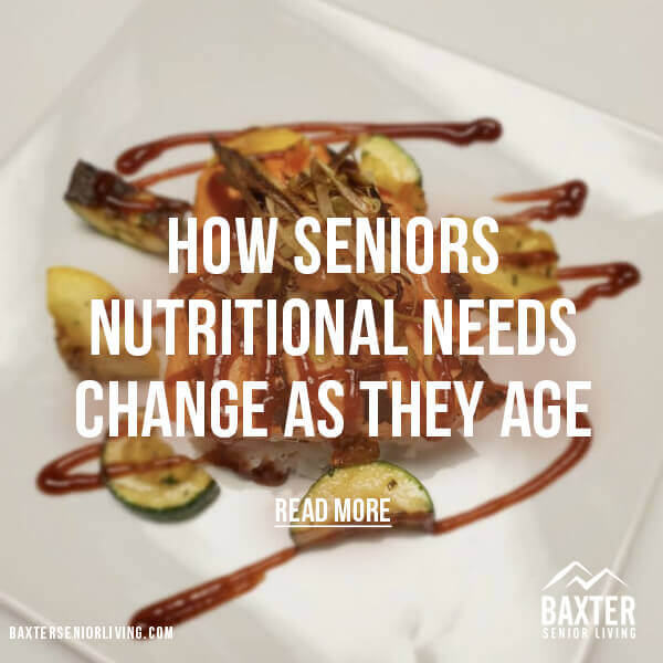 Seniors Nutritional Needs