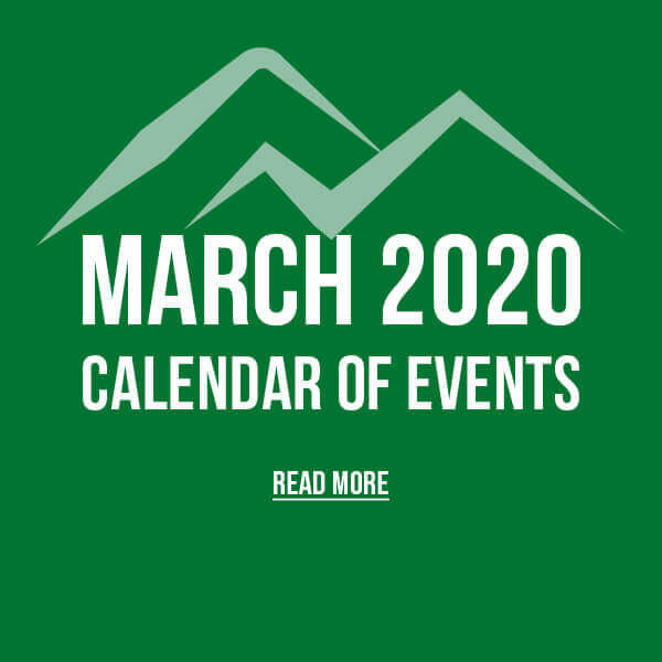 March 2020 Calendar of Events