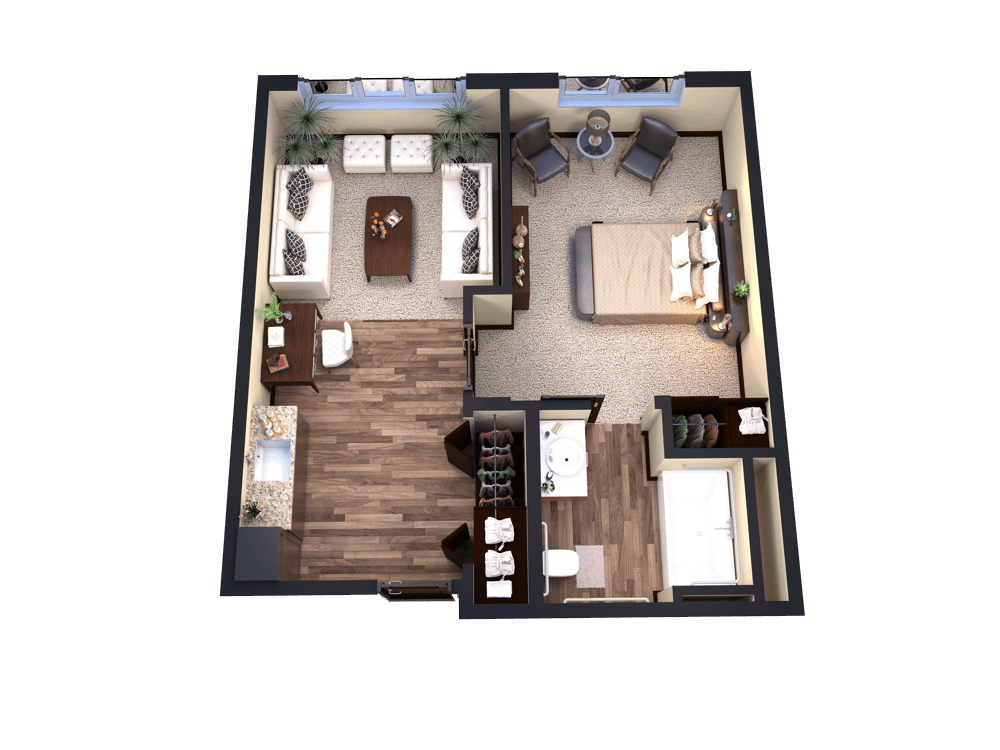 Assisted Living 1 bedroom