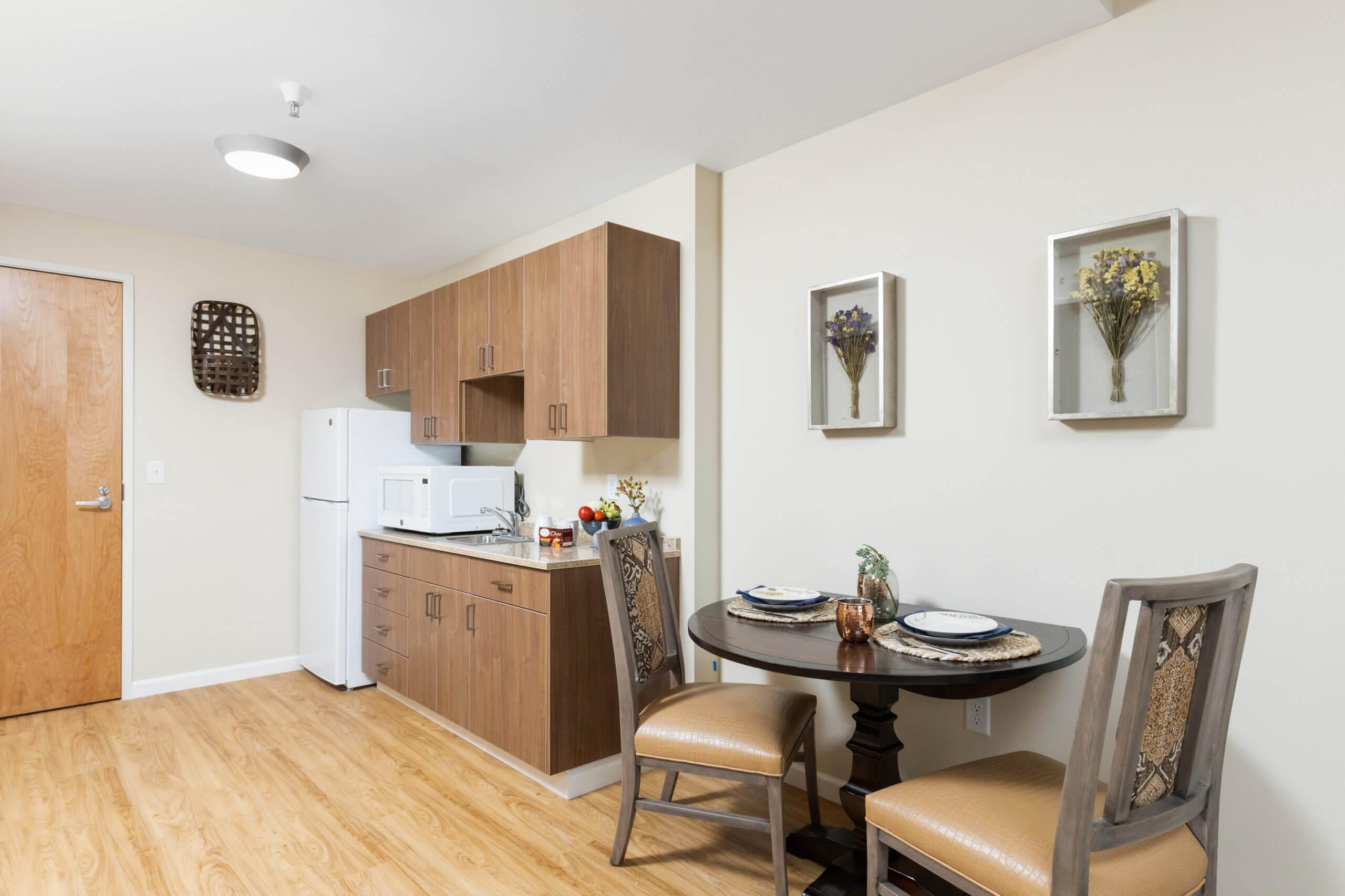 Baxter Senior Living Assisted Living - 1 Bedroom Kitchen