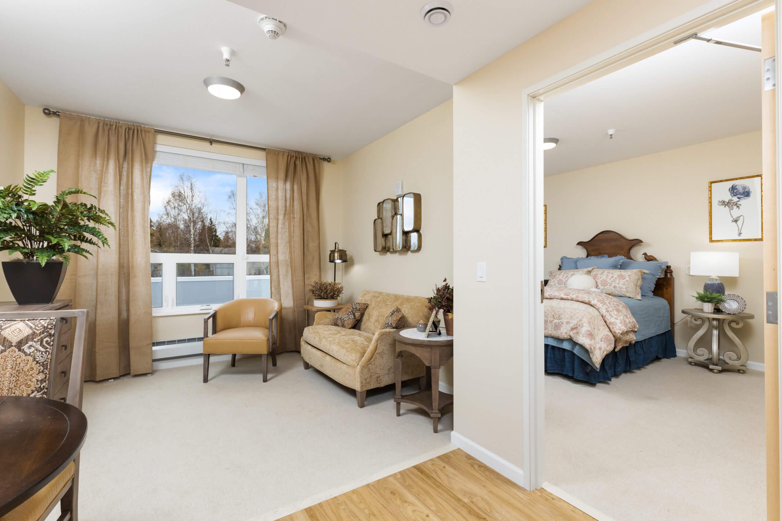 Baxter Senior Living Assisted Living - 1 Bedroom Living Room