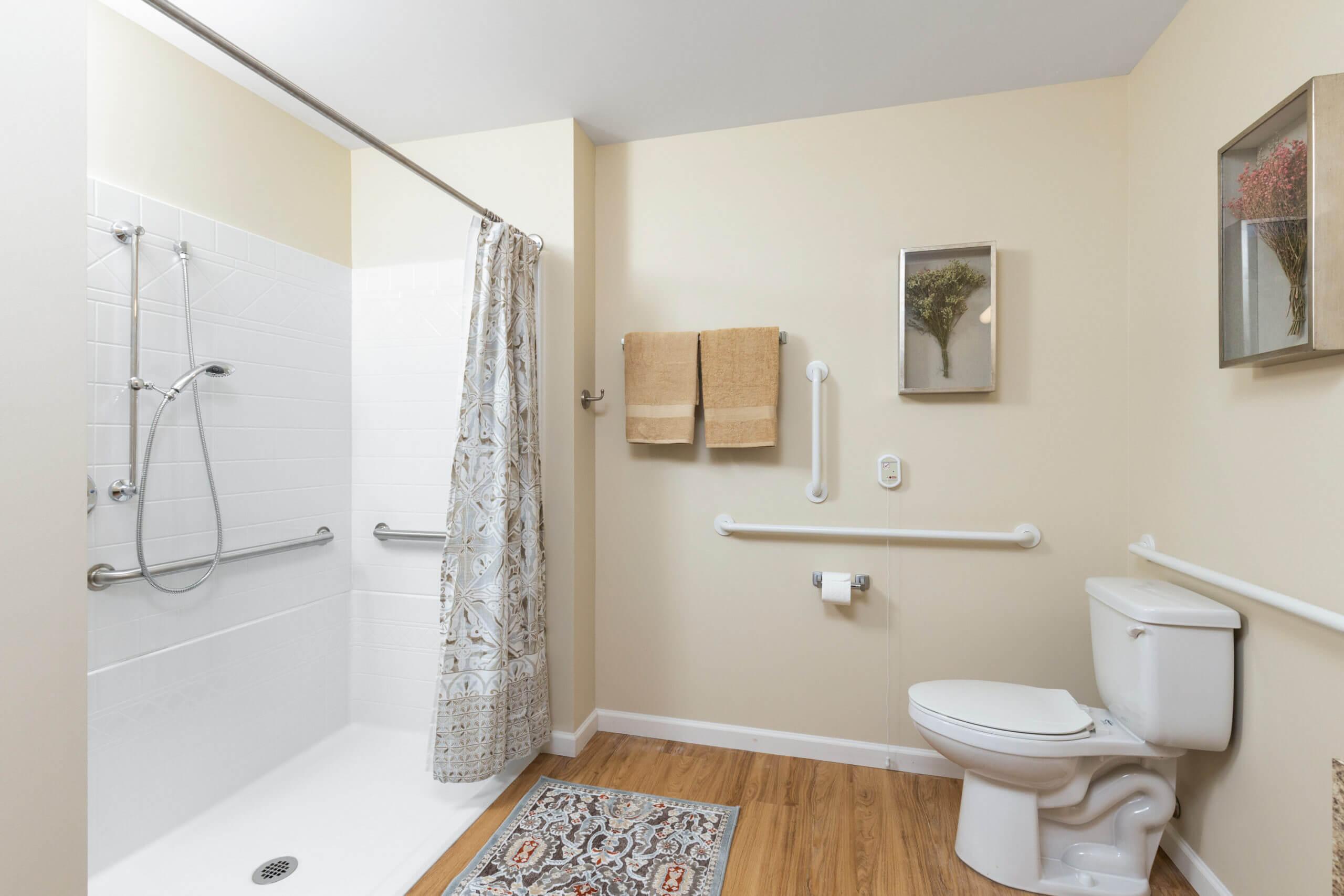 Baxter Senior Living Assisted Living Studio Bathroom