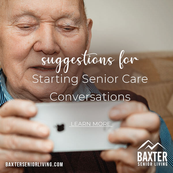 Suggestions for Starting Senior Care Conversations